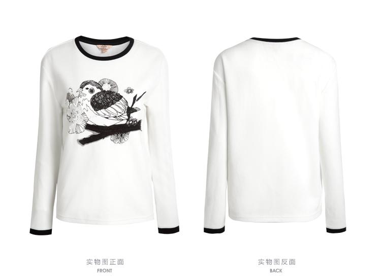 拉夏贝尔 新款青春甜美动物图案t恤 30006640